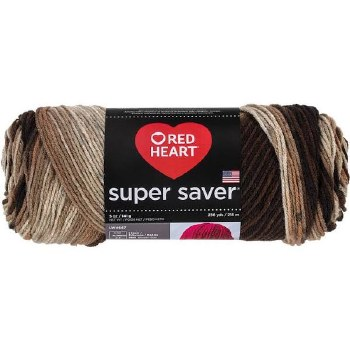 Red Heart Super Saver Yarn, Mulit-Color- Platoon
