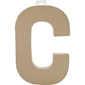 "8"" Paper Mache Letter- C"
