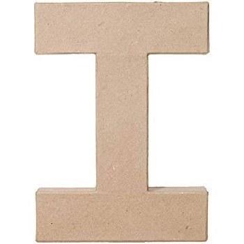"8"" Paper Mache Letter- I"