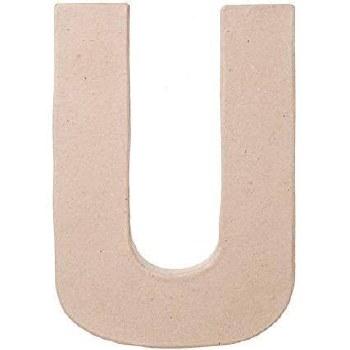 """8"""" Paper Mache Letter- U"""