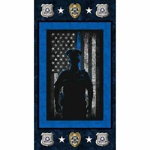 Patriotic Fabric Panel- Police Department