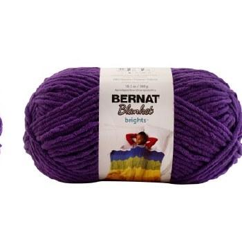 Bernat Blanket Yarn- Pow Purple