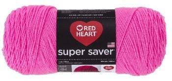 Red Heart Super Saver Yarn- Pretty in Pink
