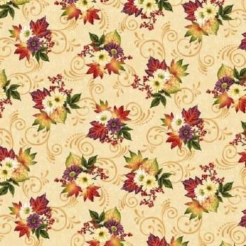 Pumpkin Harvest Bolted Fabric- Bouquet