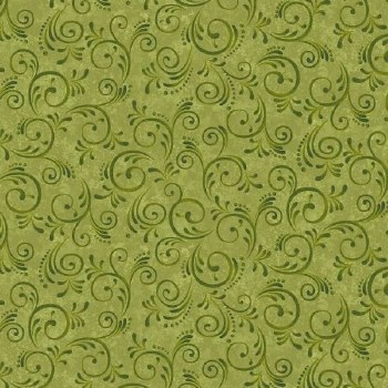 Pumpkin Harvest Bolted Fabric- Swirl, Green