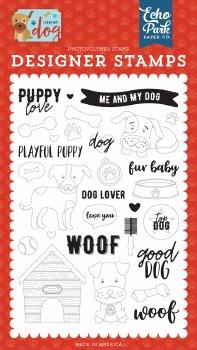 I Love My Dog Designer Stamps- Puppy Love