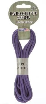 Parachute Cord 4mm x 16ft- Purple