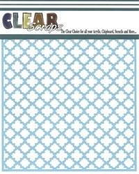Clear Scraps 12x12 Stencil-Quartefoil