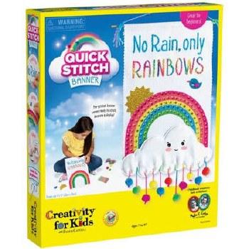 Creativity for Kids Craft Kit- Quick Stitch, Rainbows