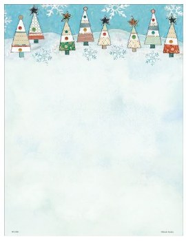 Holiday Letterhead- Quilted Tree