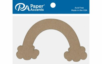 Paper Accents Chipboard- Rainbow 6ct