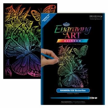 Engraving Art Foil Set- Rainbow Butterfliles