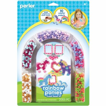 Perler Beads Kit- Rainbow Ponies & Frames