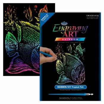 Engraving Art Foil Set- Rainbow Tropical Fish