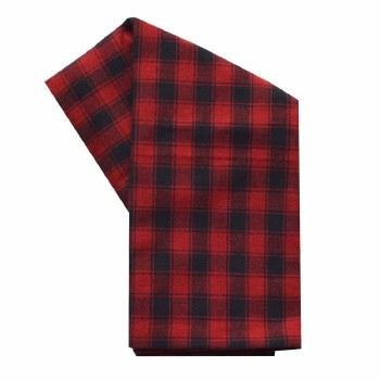 "House Check 20""x28"" Tea Towel- Black & Red"