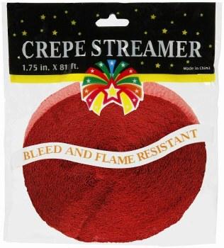 81' Red Crepe Streamer