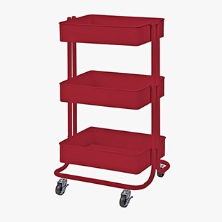 Rolling Utility Cart- Red