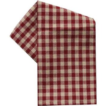 "Small Check 20""x28"" Tea Towel- Red"