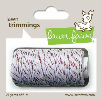 Lawn Fawn Trimmings Cord- Red Sparkle