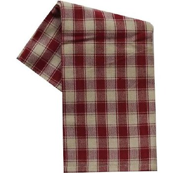 "House Check 20""x28"" Tea Towel- Teadye & Red"