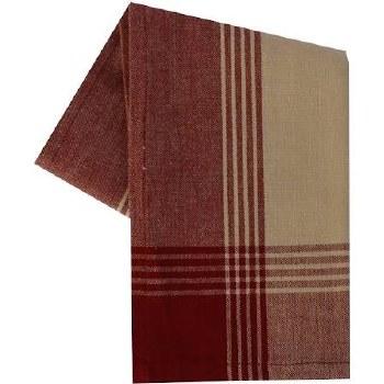 "McLeod Stripe 20""x28"" Tea Towel- Teadye & Red"