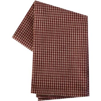 "Mini Check 20""x28"" Tea Towel- Teadye & Red"