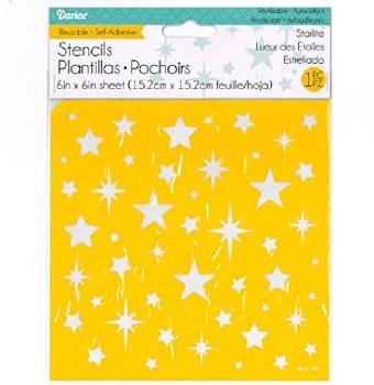 Reusable Adhesive 6x6 Stencil- Star Lite