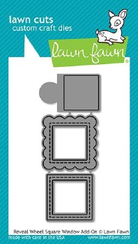Lawn Fawn Reveal Wheel Add-On Craft Dies- Square Window