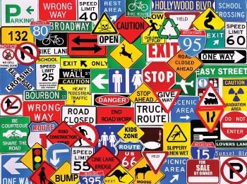 Road Signs - 550 Piece Puzzle