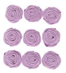 Canvas Rosettes, 9ct- Lavender