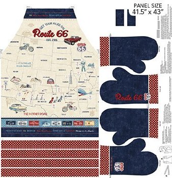 Fabric Panel, Apron- Route 66