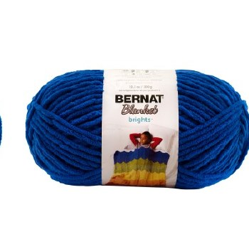 Bernat Blanket Yarn- Royal Blue