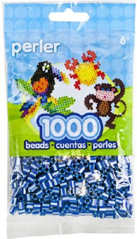 Perler Beads 1000 piece- Royal Blue Pearl Stripe