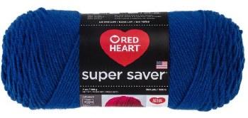 Red Heart Super Saver Yarn- Royal