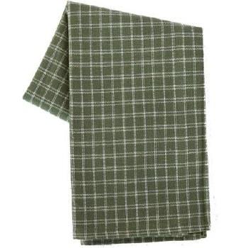 "Window Pane 20""x28"" Tea Towel- Sage & Cream"