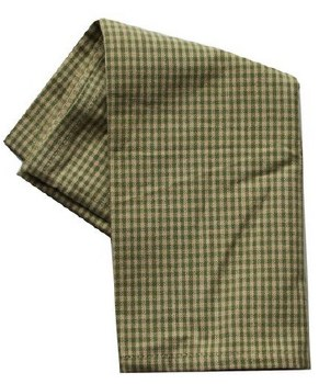 "Mini Check 20""x28"" Tea Towel- Teadye & Sage"
