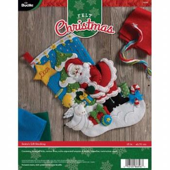 Bucilla Felt Stocking Kit- Santa's Gifts