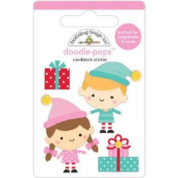 Christmas Magic Stickers, Doodle-Pops- Santa's Helpers
