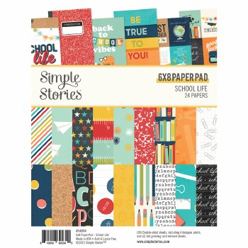 School Life 6x8 Paper Pad
