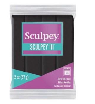 Sculpey III Polymer Clay - Black 2oz.