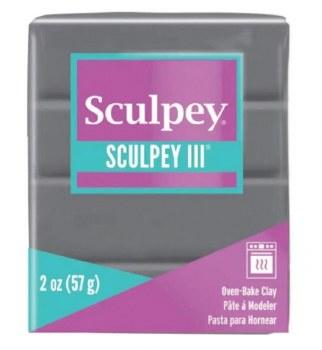 Sculpey III Polymer Clay - Elephant Gray 2oz