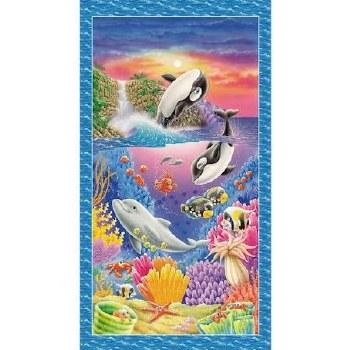 Animals Fabric Panel- Sea World