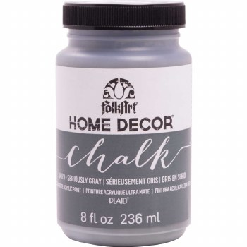 FolkArt Home Decor Chalk Paint 8 oz- Seriously Gray