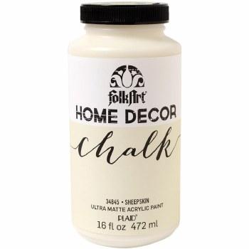 FolkArt Home Decor Chalk Paint 16oz- Sheepskin
