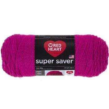 Red Heart Super Saver Yarn- Shocking Pink
