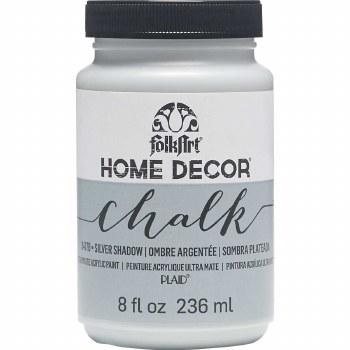 FolkArt Home Decor Chalk Paint 8 oz- Silver Shadow