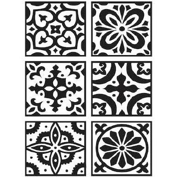 Darice Embossing Folder- Backgrounds- Patterned Tiles