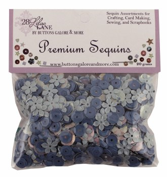28 Lilac Lane Premium Sequins- Sky