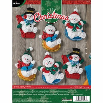 Bucilla Felt Ornament Kit- Snow Day Fun Day