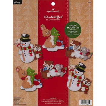 Bucilla Felt Ornament Kit- Snow Much Fun